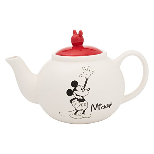 Vandor 89008 Disney Mickey and Minnie Mouse Sculpted Ceramic Teapot