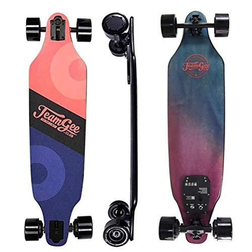 SCOOTER Longboard Elektro-Skateboard, Elektronische Longboard 2200rpm Geschwindigkeit Intelligent, Fernbedienung und Lebensdauer der Batterie ≥15-18km, Höchstgeschwindigkeit 40 km/h, for Jugend Scoo