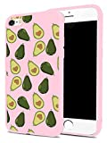 Avocado Phone Case for iPhone 6 Plus/6s Plus, MAYCARI Soft Full Protective Slim Pink Rubber Drop Protection for Girls Women