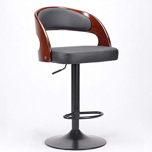 Barstools-BYTGK barkruk koeienhuid zitting en hout terug barkruk Swivel in hoogte verstelbare werkstoelen voor thuis teller Kurkliniek Salon J1031