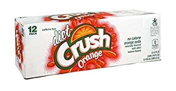 Crush Orange Diet Soda 12 oz Can  Pack of 24