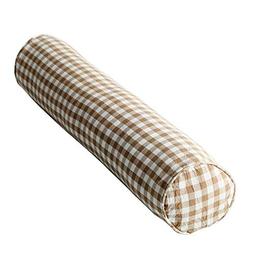 Riel protector de cama de bebé de espuma viscoelástica para niños, color marrón, almohada cómoda para niños con funda antideslizante hipoalergénica y lavable, riel de pared para cama infantil