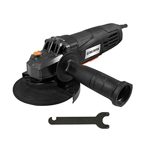 DELTAFOX Elektro Winkelschleifer -Trennschleifer - 750 Watt - Scheiben-Ø: 125 mm -11.000 U/min - (Schutzhaube, Zusatzhandgriff, Spannschlüssel)