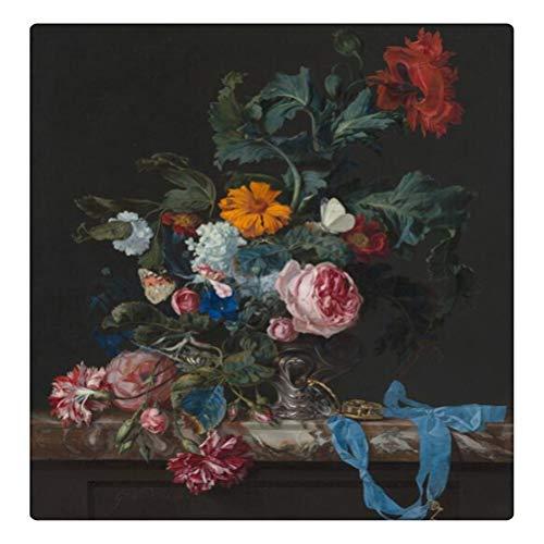 DFSDG Vintage Leinwand Malerei Wanddekor Stillleben mit Blumen in einem Glas Vase Nordic Art Poster und Drucke Bild Cuadros (Color : Style 4, Size : 50X75CM Frameless)