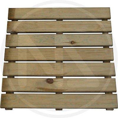Pedana per doccia 50x50cm - in legno di pino impregnata in autoclace