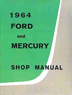 1964 Ford Galaxie & Mercury Big Car Repair Shop Manual Original