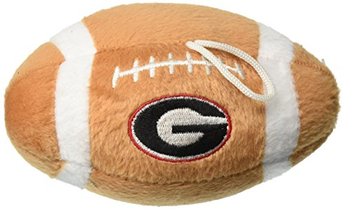 Sporty K9 NCAA Georgia Bulldogs Plush Football Pet Toy, 5-inch Long with Inner Squeaker