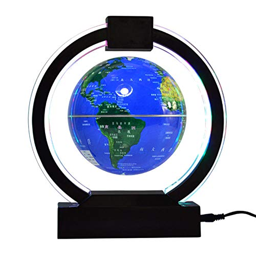 WXXW 6' Globus Design mit LED Lampe,Blau Globus Lamp für Office Home Desk Dekoration