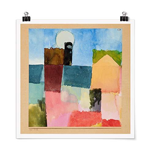 Bilderwelten Poster Kunstdruck Wanddeko Paul Klee Mondaufgang Quadrat, Matt 50 x 50cm