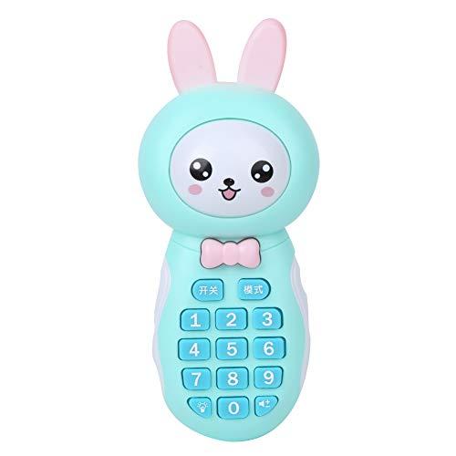 Semiter Juguete para teléfono, Adecuado para bebés Juguete para teléfono con Sonido Envolvente 3D, institución educativa Estable y Duradera Educación temprana(Blue)
