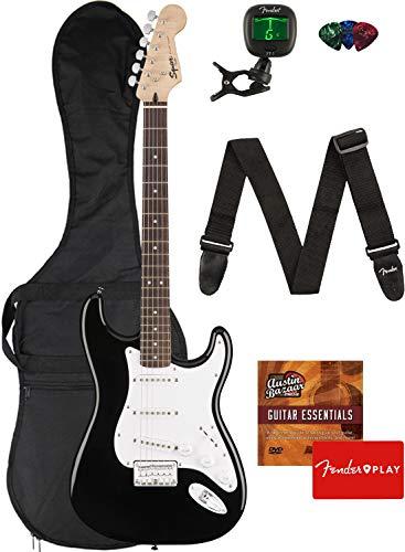 Fender Squier Bullet Stratocaster - Dakota Red Bundle with Gig Bag, Tuner, Strap, Strings, Picks, and Austin Bazaar Instruction DVD