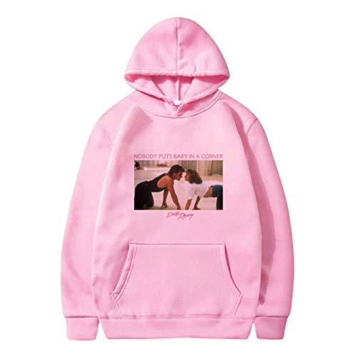 N-brand Dirty Dancing Print Hoodie Women 90s Harajuku Ullzang Cute Sweatshirt Graphic Fashion Aesthetic Pullover Street Top 90s