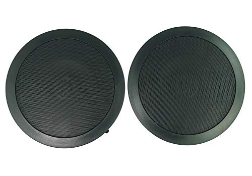 2 Rockville CC65T Black 6.5' Commercial 70v Ceiling Speakers for Restaurant