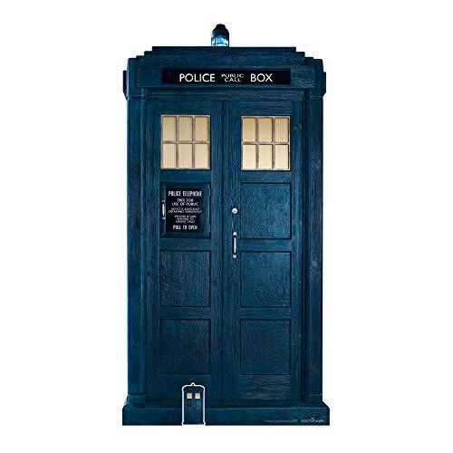 Star Cutouts Ltd SC1188 Star Cutouts Kartonaufsteller Doctor Who 3/4, lebensgroß, 195 cm hoch, 13. Tardis
