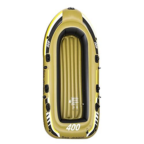 Gaoweipeng 2 Personas Kayak Hinchable,Plegable Conveniente Bote Inflable PVC Ambiental Espesar Airbag Doble Seguridad Estabilidad Comodidad Excursión Pesca Piragua,Estándar para 2 Personas