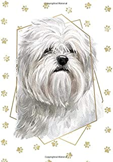 Lhasa Apso Dog Portrait Notebook -- Creative Journal: 7x10, Cream Paper, 5mm Dot Grid, 184 Pages