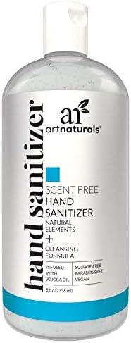 Artnaturals Hand Sanitizer Gel Alcohol Based 1 Pack x 8 Fl Oz 220ml Infused with Alovera Gel product image