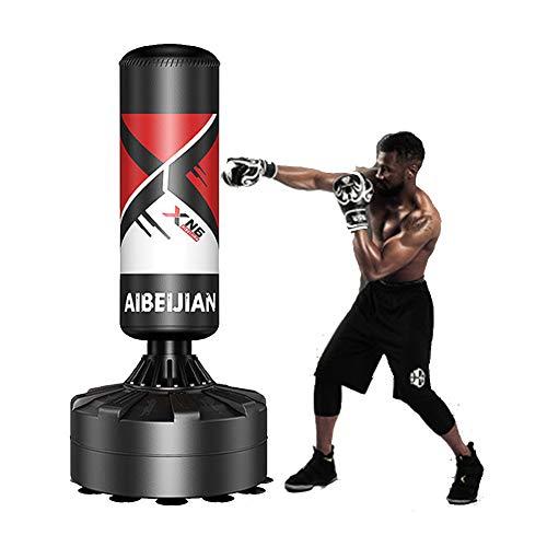 Freistehender Boxsack für Erwachsene & Jugendliche Kinder, 170cm Boxsack Ständer Standboxsack für Kampfkunst Taekwondo MMA Boxen Sport Boxpartner Sandsack Boxing Bag