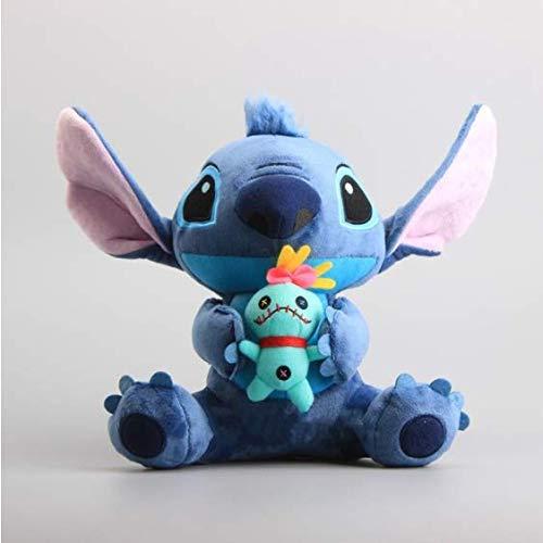 Boufery Anime Lilo und Stitch Plüschtier, Cartoon Stitch Kuscheltiere Stofftierpuppen, Baby Kinderspielzeug Geburtstagsgeschenk 25cm