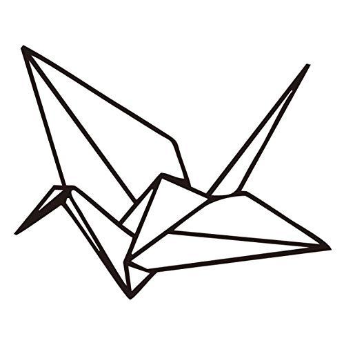 Hao Sai's shop Pegatinas De Pared Origami Geométrica Calcomanías De Pared Decoración para El Hogar Dormitorio Sala De Estar Grúa Moderno Vinilo Art Sticker Quality Mural Decal
