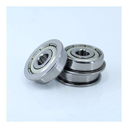 DINGGUANGHE-CUP Flanged Bearings for Desktop 3D Printer Special Flange Bushing Ball Bearing F624ZZ 4X13X5mm F624 for Kossel Prusa i3 Parts (10PCS) Industrial Products