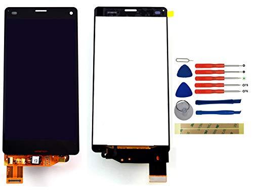 Yixi Pantalla para Sony Xperia Z3 Compact Mini D5803 D5833 Pantall LCD Pantalla Táctil Negro Repuesto de Pantalla Recambio (sin Marco)