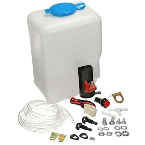 Luyao 12V Universal Scheibenwaschanlage mit Pumpe und Schlauch,Reinigung Sprühsystem Windschuzscheibe Set,Einfach zu Verwenden
