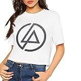 Designer Funny Linkin-Park-Logos Printing Crop Top Summer Short Top tee for Women Camisetas y Tops(Large)