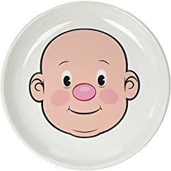 Mr Fred Ceramic Dinner Plate for Kids plate toddler plate fun feeding baby plate
