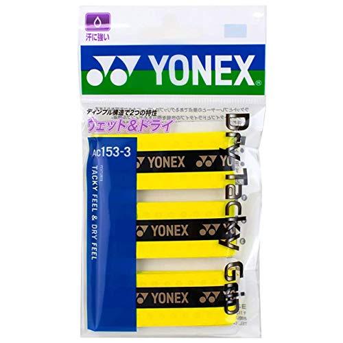 ヨネックス(YONEX) テニス バドミントン グリップテープ ドライタッキーグリップ (3本入り) AC1533 フラッシュイエロー
