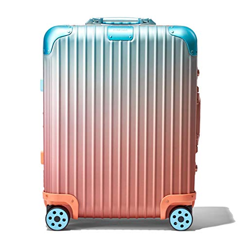 RIMOWA X ALEX ISRAEL ORIGINAL CABIN PLUS MULTIWHEEL SUITECASE ORANGE/PINK/BLUE LIMITED EDITION