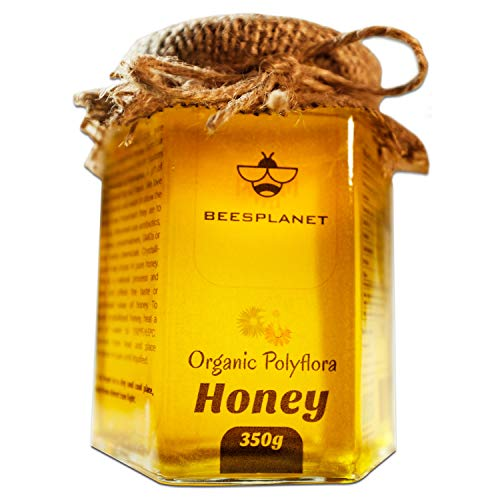 Certified Organic and Raw Polyflora Honey - Natural Single Origin from Our Forest Farm in Romania - Unpasteurised, Eco Premium Quality, A Gift of Love Straight from The Beekeeper