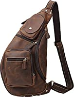 [(チョウギュウ) 潮牛]マチ拡張 厚手牛革 ボディバッグ メンズ 本革 ワンショルダーバッグ 斜めがけバッグ 自転車鞄 アウトドア 大容量 iPad対応