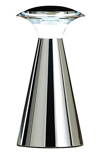Lunartec Tischlampe Batterie: Edelstahl LED-Tischleuchte (LED Tischleuchte kabellos)