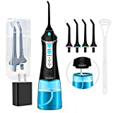 Cordless Water Flosser Oral Irrigator, Nicefeel 300ML 2 Tip Case Portable and Rechargeable Water...