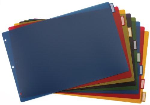 Cardinal 8 Tab Binder Dividers for 11 x 17 Inch Binders, Multi-Color (84803)