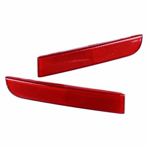 beler 1 Paire Rouge Lentille Arrière Pare-chocs Réflecteur Queue De Frein Lumière Stop Lampe Fit pour Mitsubishi Lancer CZ4A