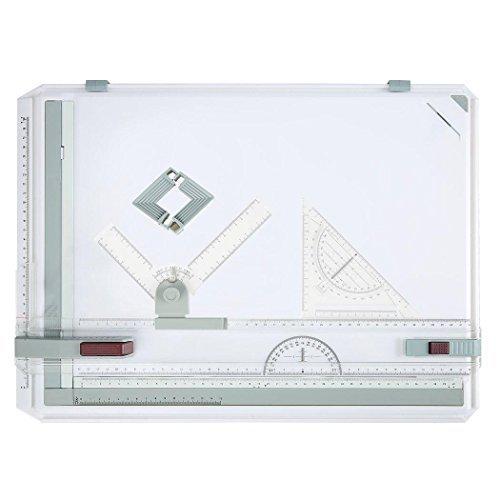 begorey Tavolo da Disegno A3plastica Plotter Parallel Movimento Multifunzione Professionale con Bordo Quadrato Arte Grafica