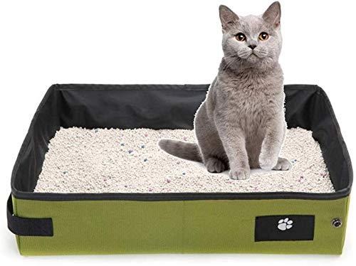 KLMNV; KLBVB Zachte zandbak voor katten, Oxford-stof, draagbaar, WC, waterdicht, robuust, voor reizen, toilet, huisdieren, kleur: zwart, afmetingen: 15,7 x 11,8 x 3,9 inch, 15.7×11.8×3.9in, Blue