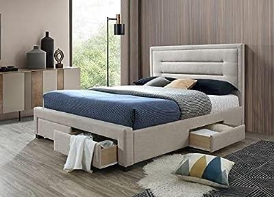 Diseño moderno y sofisticado: la cama Emma Grey combina perfectamente detalles nórdicos con materiales de alta calidad, a la moda para tu estilo de vida moderno. Combina funcionalidad con comodidad y elegancia. Todo en un paquete y fácil de montar: t...