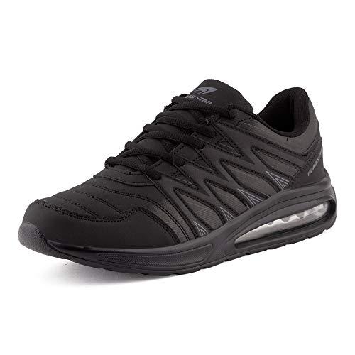 Fusskleidung Herren Damen Sportschuhe Sneaker Dämpfung Laufschuhe Übergröße Neon Jogging Gym Unisex Schwarz EU 44