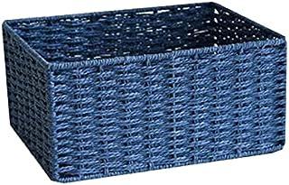 Lpiotyucwh Paniers et Boîtes De Rangement, Paniers à Domicile pour Organiser, boîtes à bacs de Rangement (Corde de Papier)...