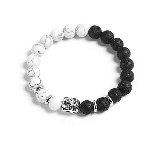 ZSDFW Pulsera de piedra natural hecha a mano con cuentas elegantes, pulsera ajustable para mujeres y hombres, regalo de Acción de Gracias