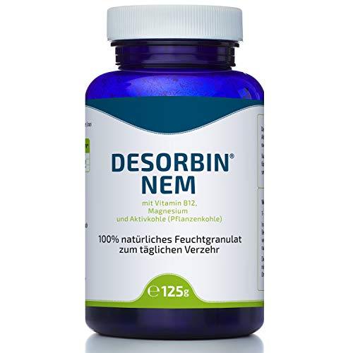 100% natürliche Aktivkohle I Magen-Darmpflege I Zahnaufhellung I Gesichtsmaske I mit Magnesium & Vitamin B12 | Desorbin Aktivkohle Pulver Nahrungsergänzungsmittel 125 g