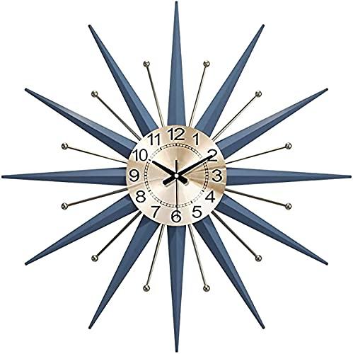 AWJ Grande Orologio con Decorazione Starburst, Orologio Silenzioso, Orologio da Parete in Metallo di metà secolo, Grande Decorazione Starburst per casa, Cucina, Soggiorno, uffici