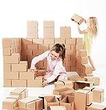 Gigi Méga Blocs de Construction 60 XXL - Jeu de pièces, Blocs géants pour Enfants avec système de Verrouillage, Grande Brique de Construction pour Tout Petit, Robuste et Facile à Monter G-2 Natural