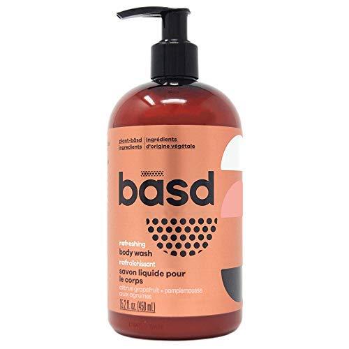Basd Organic Moisturizing Body Wash, Refreshing Citrus Grapefruit, Natural Skin Care, Vegan, Hypoallergenic, 15.2 Ounce Bottle