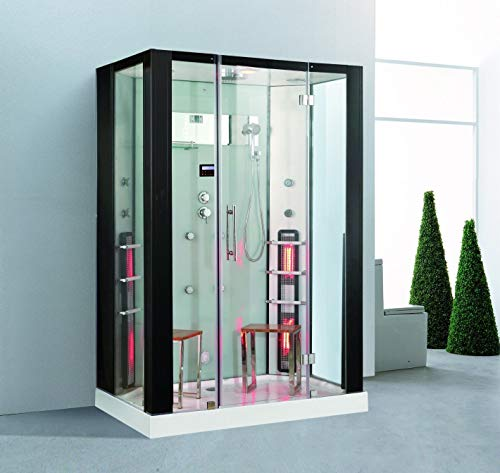 XXL Luxus LED Dampfdusche +Infrarotsauna Kombi Infrarot Sauna-Wärmekabine +Radio
