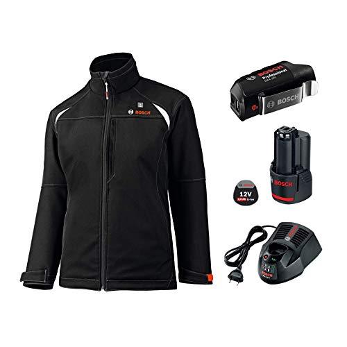 Bosch Professional Veste Chauffante GHJ 12+18V Unisexe (Batterie 2,0 Ah, 12/18V, Noire, Taille XL, Boîte en Carton)