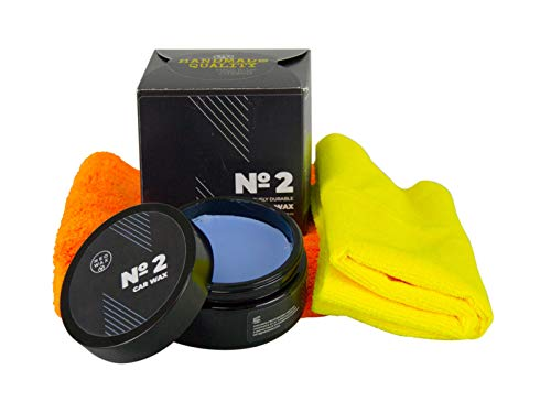 NEOWAX Car Wax №2 Wachs Autowachs Versiegelung Lackversiegelung CoatingWax 200 ml & Mikrofasertuch Orange 500GSM & Applikator